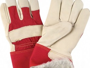 Grain Cowhide Leather Winter Glove