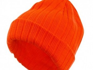 Chunky Knit Hi-Vis Orange Hat