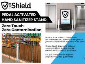 UBT Shield Touchless Hand Sanitizer Stand
